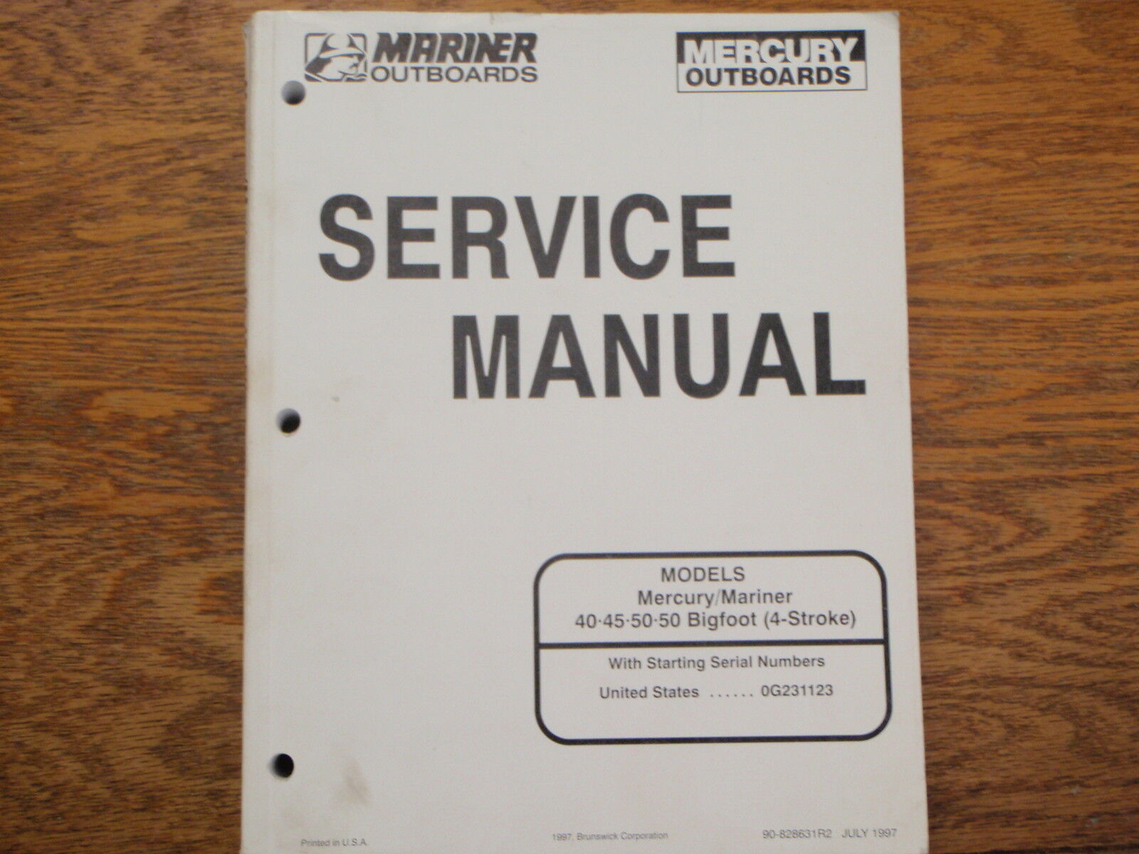 mercury outboard service manual 40 45 50 50hp bigfoot 4 stroke 90 rh picclick com HP Manuals PDF HP Manuals PDF