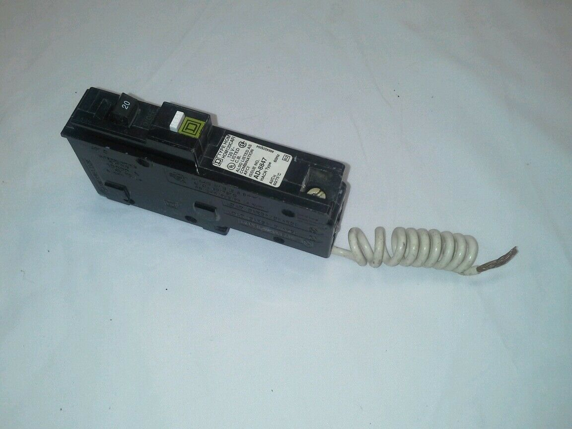 New Square D Homeline Hom120cafi Miniature Circuit Breaker 120v 20 Cross Reference All Kind Of Wiring Diagrams Amp 1 5only 2 Available See More