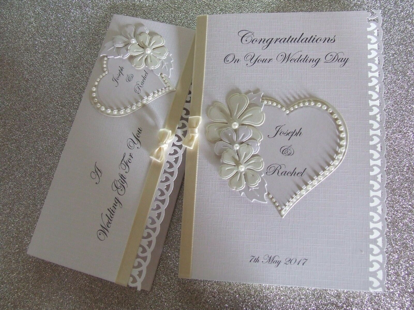 Personalised Wedding Day Card And Or Gift Voucher Wallet O GBP398