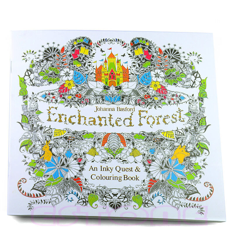 ENCHANTED FOREST An Inky Quest Coloring Book Paper Chinese By Johanna 14 Pages