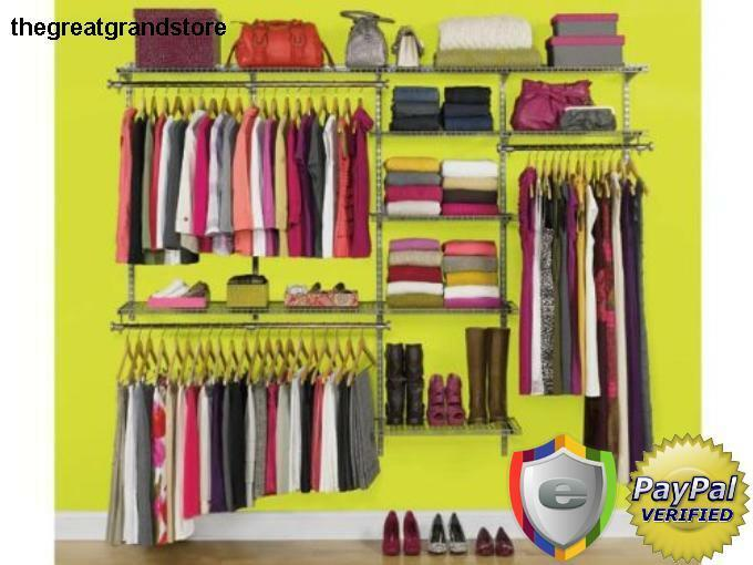 1 Of 4Only 1 Available Custom Closet Organizer Kit Rubbermaid Deluxe  Configurations ...
