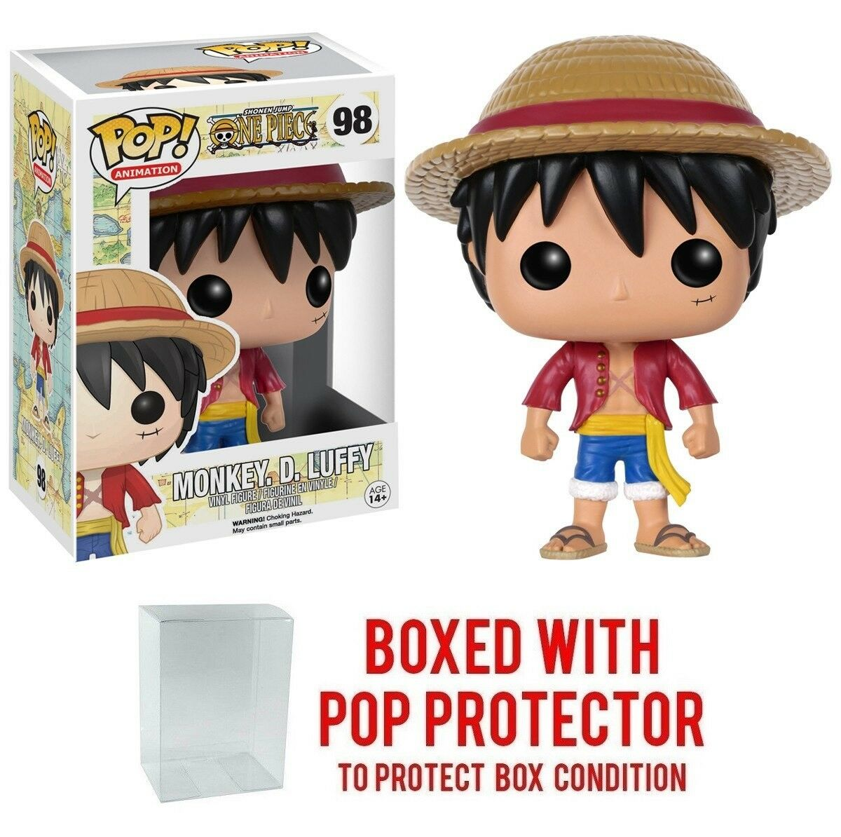Funko Pop Anime One Piece Luffy 98 Vinyl Figures W Protector Case Bott Mm Rick Morty 1 Of 1free Shipping