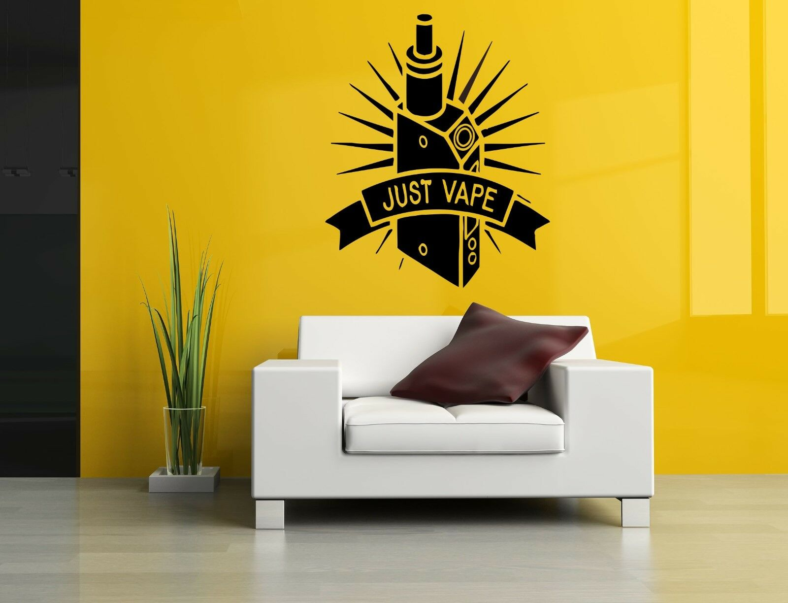 WALL DECOR ART Vinyl Sticker Mural Decal Just Vape Vaporizer Set ...