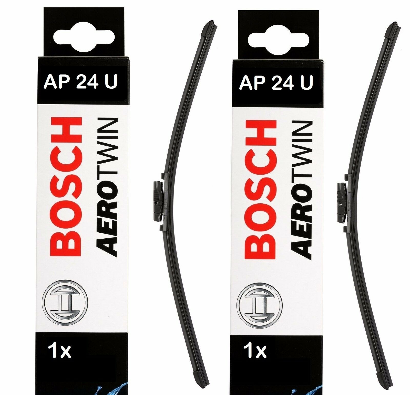 bosch front windscreen wiper blades aerotwin 600mm 24. Black Bedroom Furniture Sets. Home Design Ideas