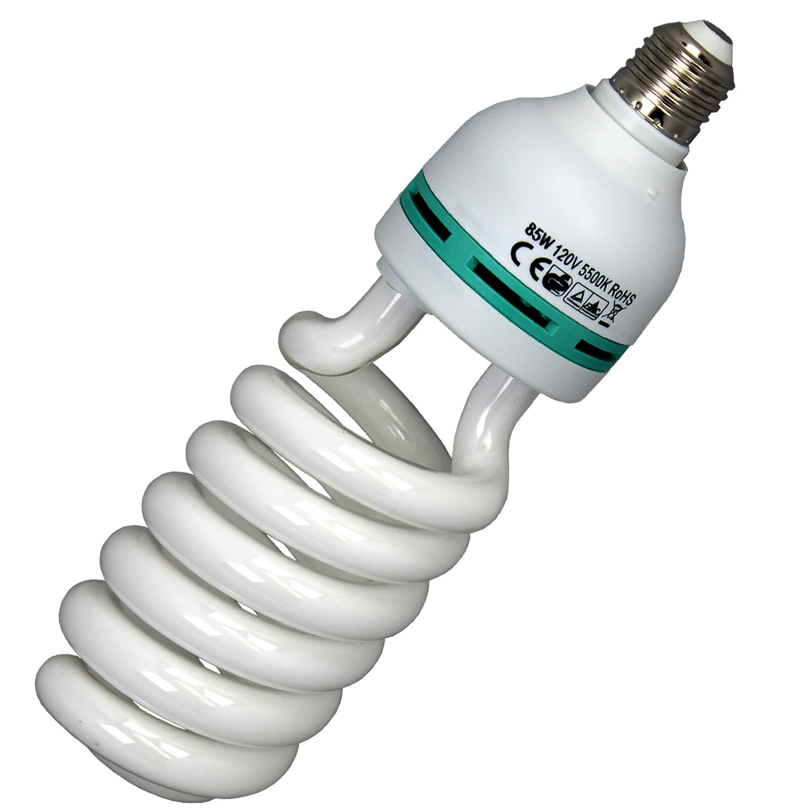 Single 85w Cfl Compact Fluorescent Photography Light Bulb 5500k Cool Lampu Studio 45w Daylight 1 Of 3free Shipping