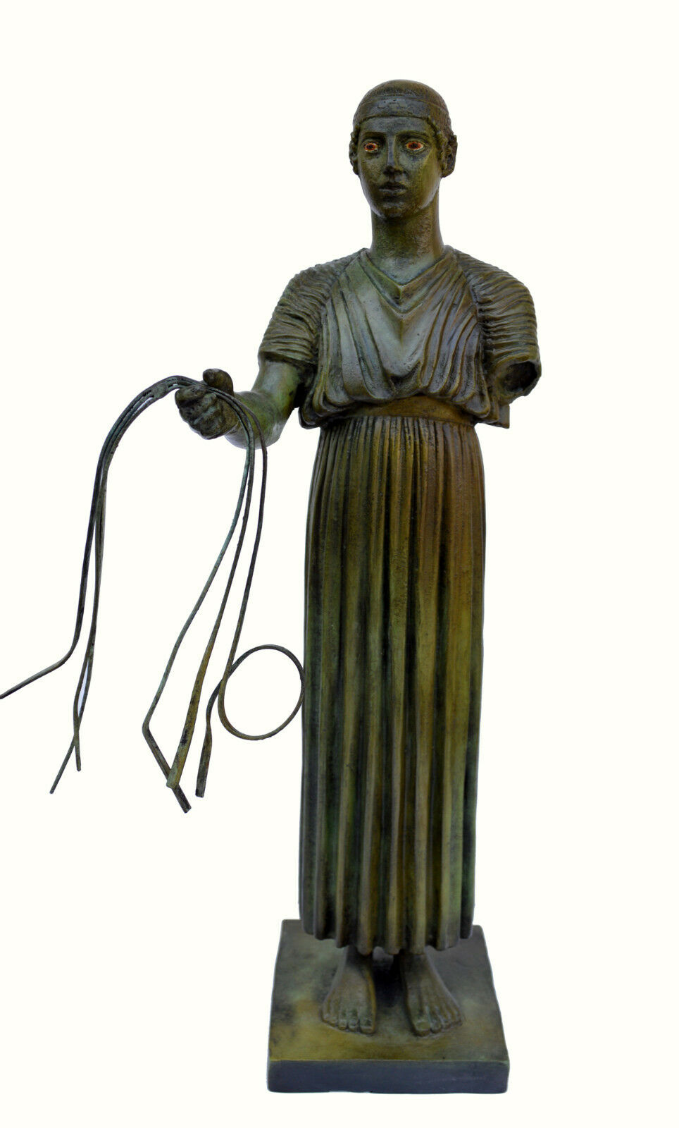 Charioteer Bronze statue of Delphi Ancient Greek reproduction sculpture artifact