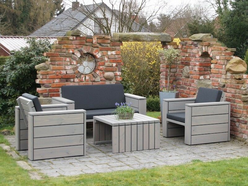 loungem bel garten set 2 inkl loungepolster wetterfestes. Black Bedroom Furniture Sets. Home Design Ideas