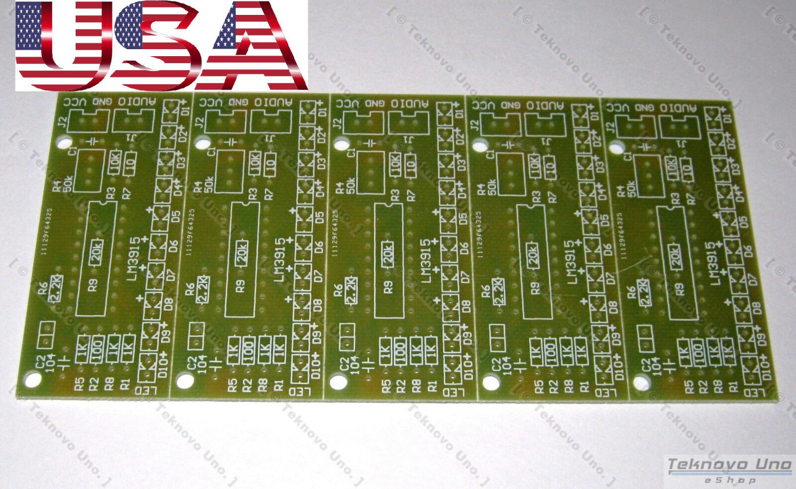 X5 Pcb Only For Diy Lm3915 Audio Led Vu Meter Sound 10 Level How To Build 4 1 Of 4only 5 Available
