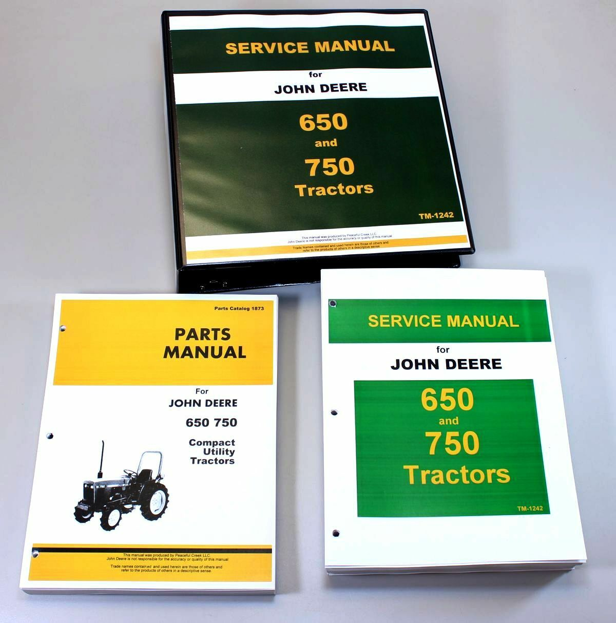 Service Manual Set For John Deere 650 750 Tractor Parts Catalog Tech Repair  Book 1 of 10FREE Shipping ...