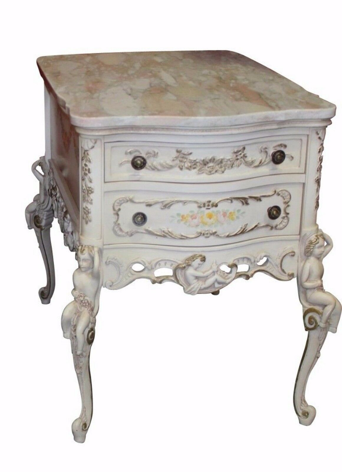 Vintage French Style Marble Top End Table 1 Of 7Only 1 Available ...