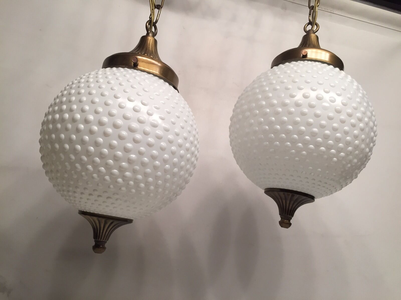 Pair of Vintage Pendant Lamps by Thomas Industries