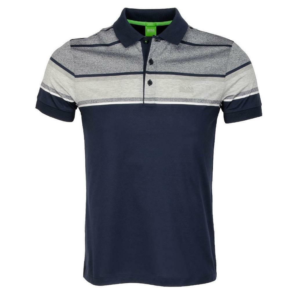 new hugo boss men 39 s slim fit cotton polo shirt t shirt navy 50315560 size m cad. Black Bedroom Furniture Sets. Home Design Ideas