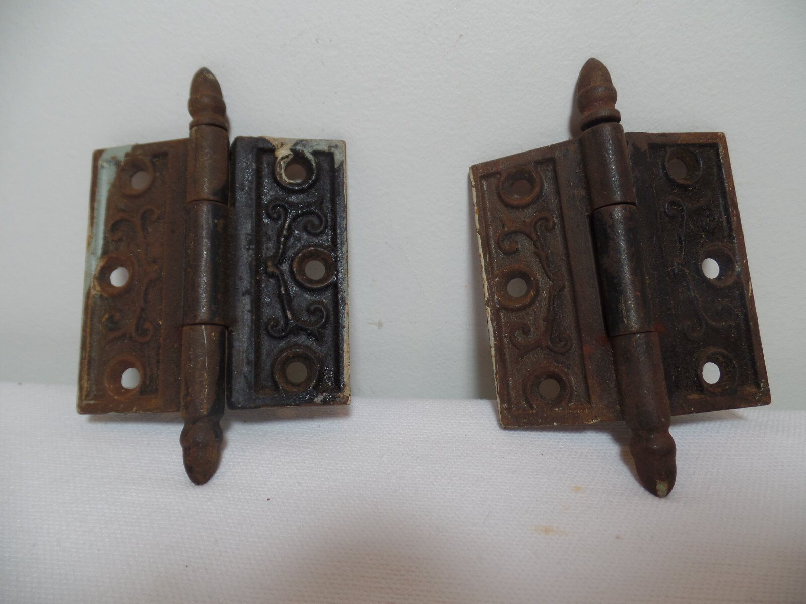 Vintage Set of Hinges Ornate