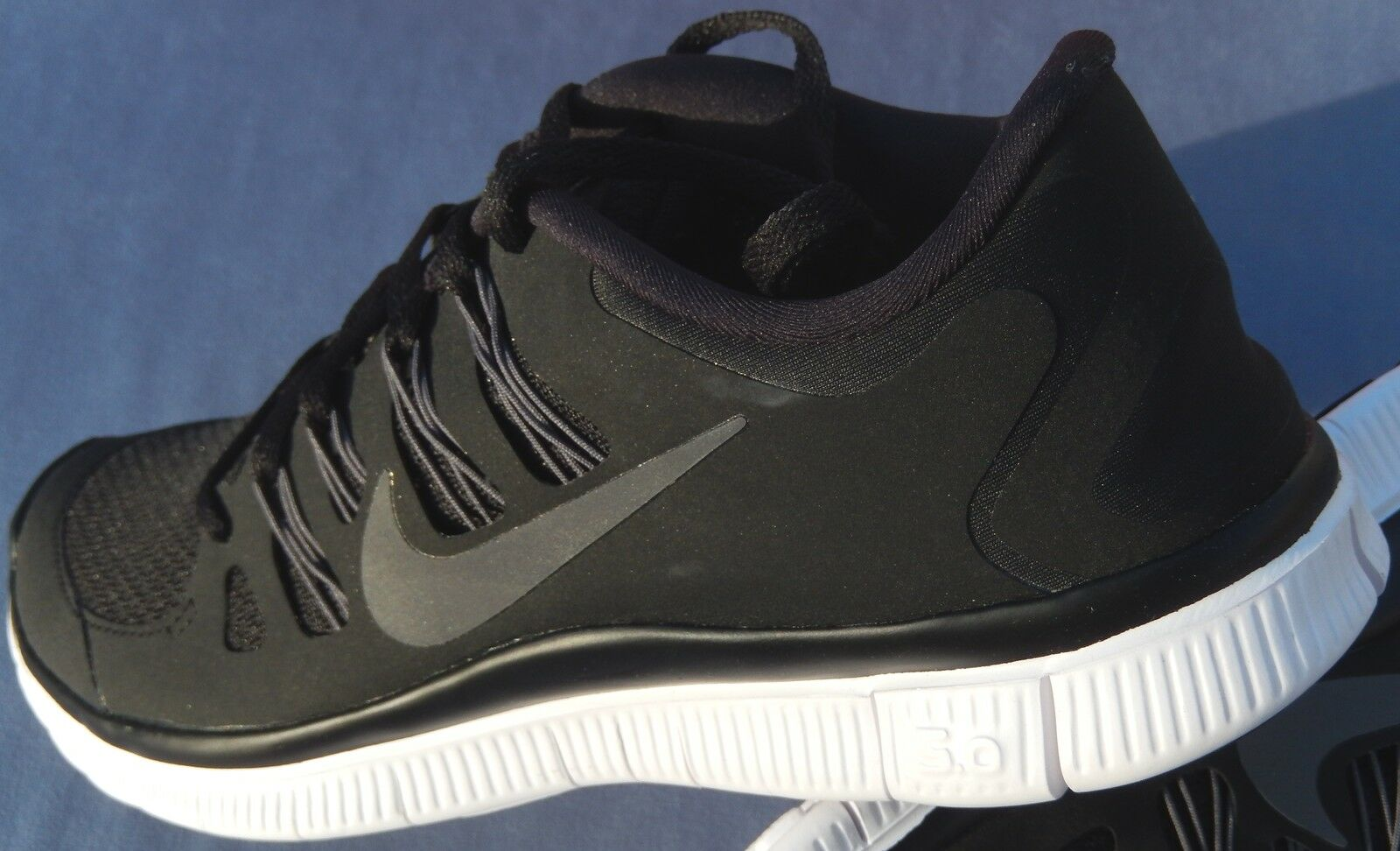 newest 8a4b9 56beb New Nike Womens Free 5.0 + Size 5.5 Black Gray Swoosh 580591-002 1 of 7 ...