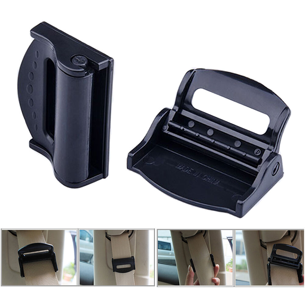 1 Of 9FREE Shipping 2x Car Seat Belt Adjuster Clip Strap Clamp Shoulder Improves Comfort Safety