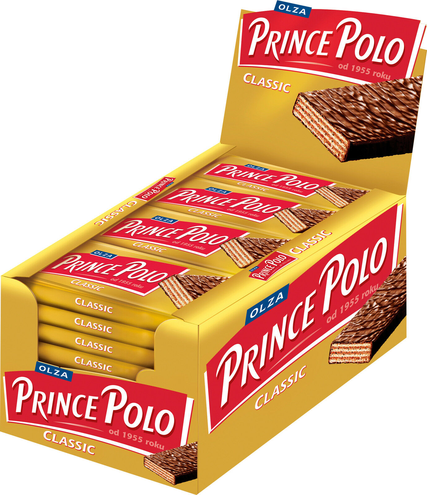 Box of 32 Bars OLZA Prince Polo Classic Chocolate Wafers 32x35g