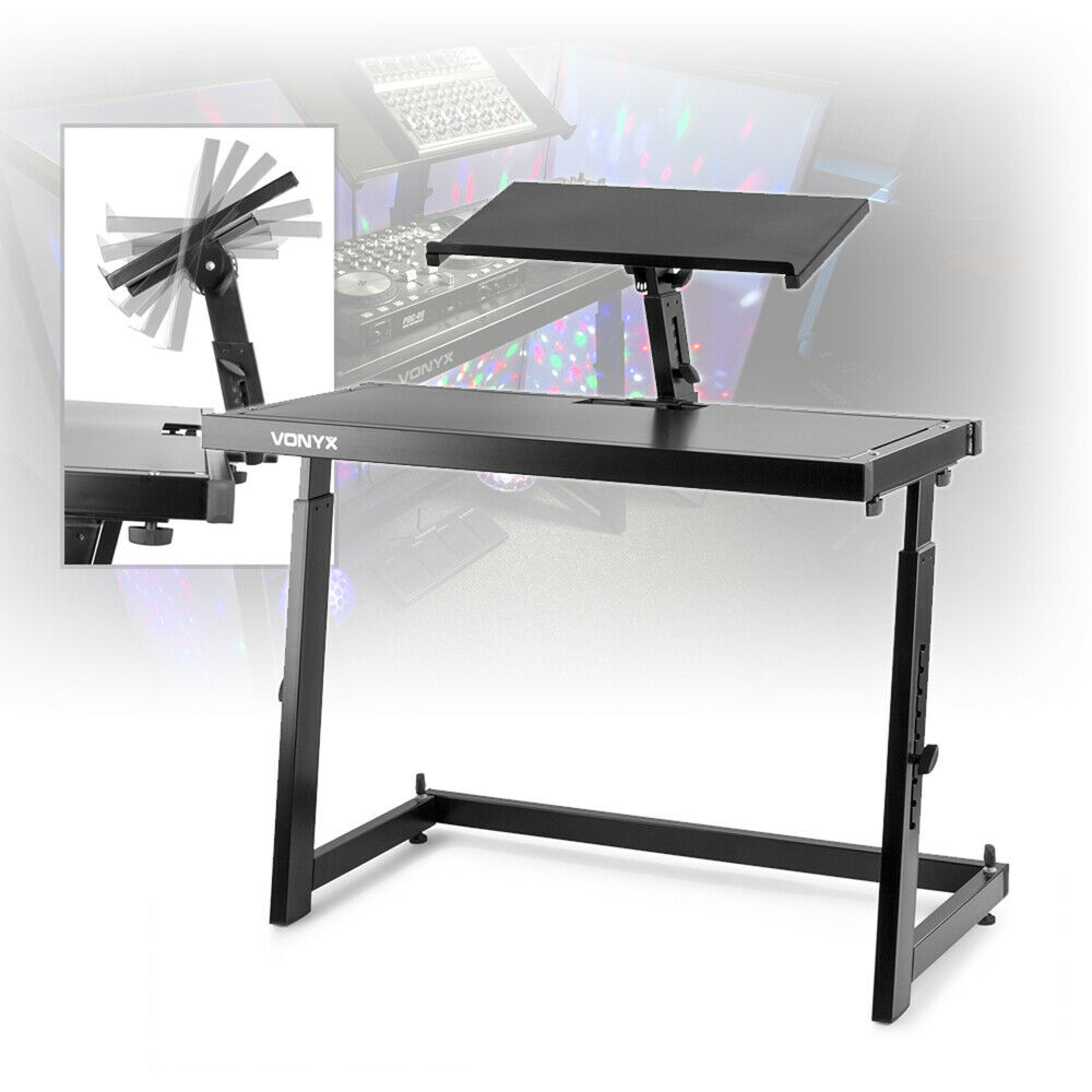 Mobile Dj Deck Stand Turntable Controller Mixer Laptop