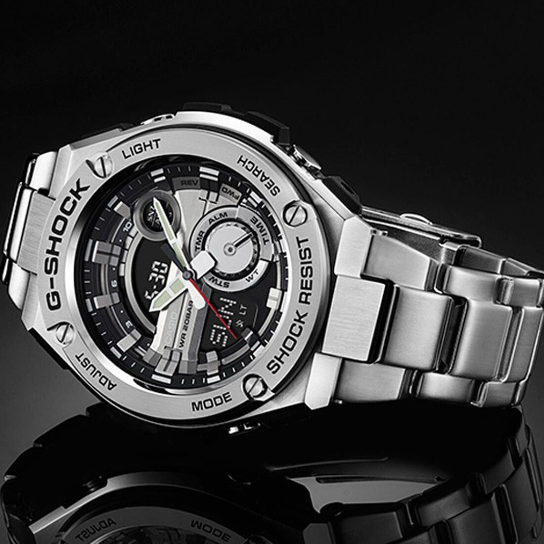 New Casio G Shock Steel Tough Solar Stainless Mens Watch Gst S120l 1b 1 Of 2only 2 Available