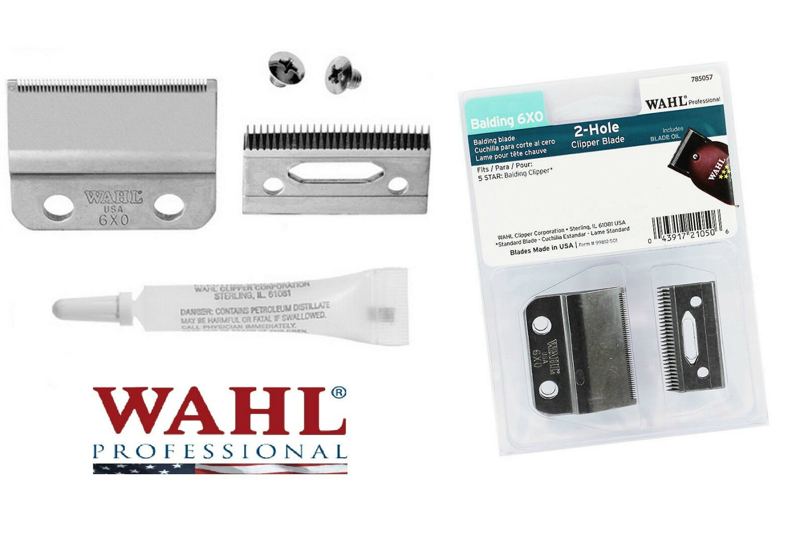 6x0 2 Hole Replacement Blade Setscrewsoil For Wahl 8110 5 Star Clipper Classic Series 1 Usa Of 1free Shipping