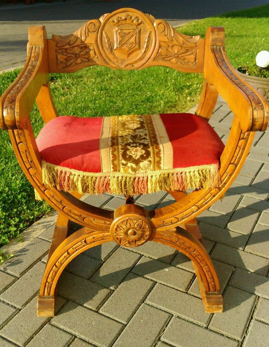 Antique French Gothic  Chair STUNNING Wiking Medieval Set Oak FREE SHIP