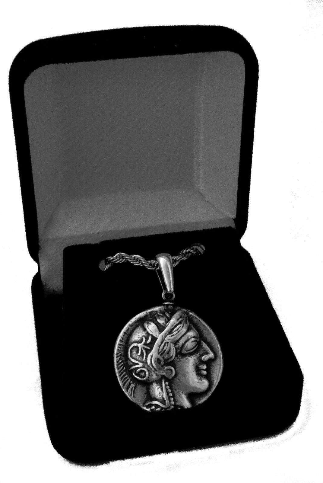 Percy Jackson Necklace, ATHENA & Owl , Annabeth's Mother, Pend/Chain 77-S