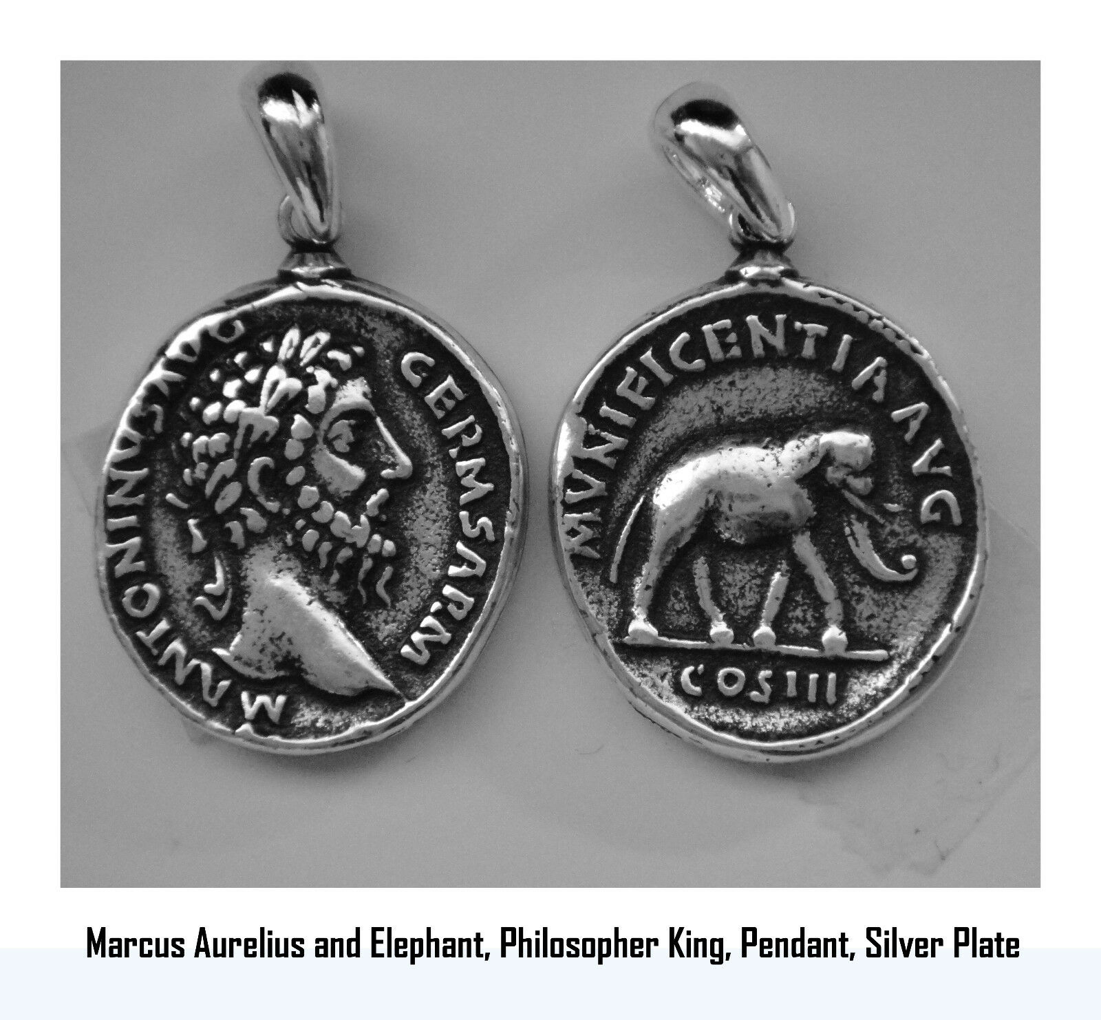 Marcus Aurelius, Philosopher King, Necklace, Pendant, 26-S