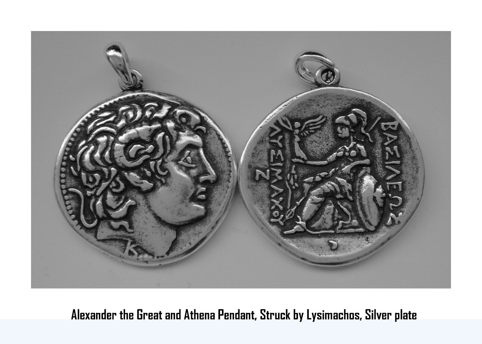 Alexander the Great and Athena, King of Macedonia, Pendant, 68-S