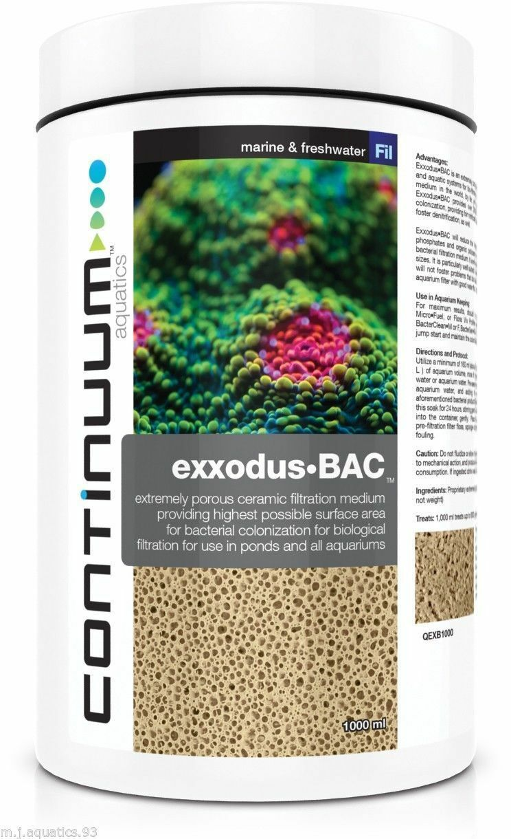 CONTINUUM EXXODUS•BAC Largest surface area media in the world filters 5,682 Ltrs