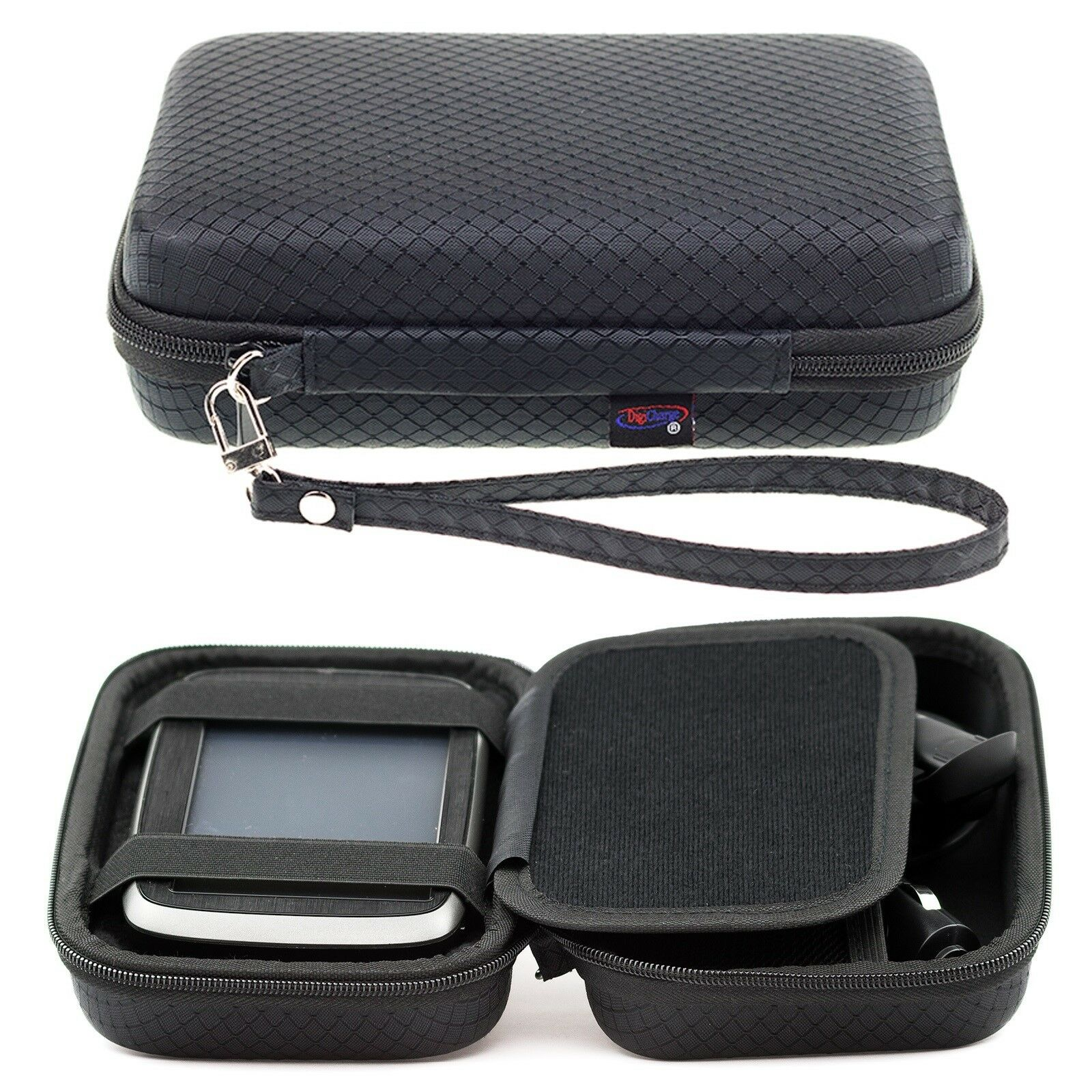 black hard carry case for tomtom go 5200 520 via start. Black Bedroom Furniture Sets. Home Design Ideas