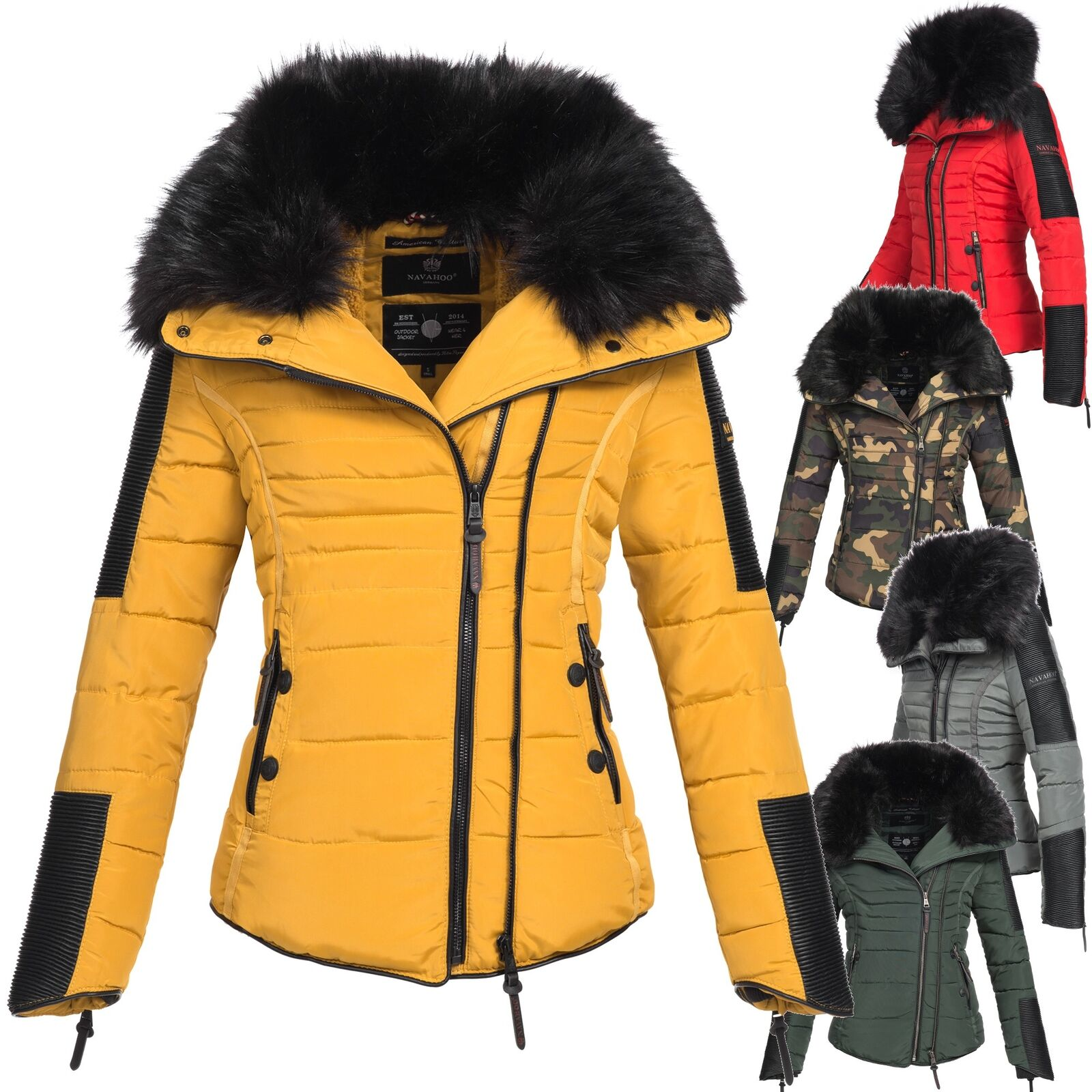 navahoo yuki2 damen jacke parka winterjacke steppjacke. Black Bedroom Furniture Sets. Home Design Ideas