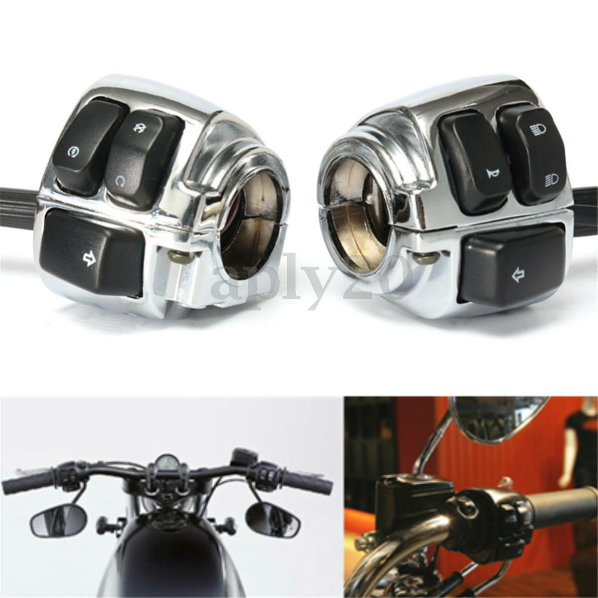 Chrome Motorcycle 1 Handlebar Control Switch Housing Wiring Fxd Harness Of 12free Shipping