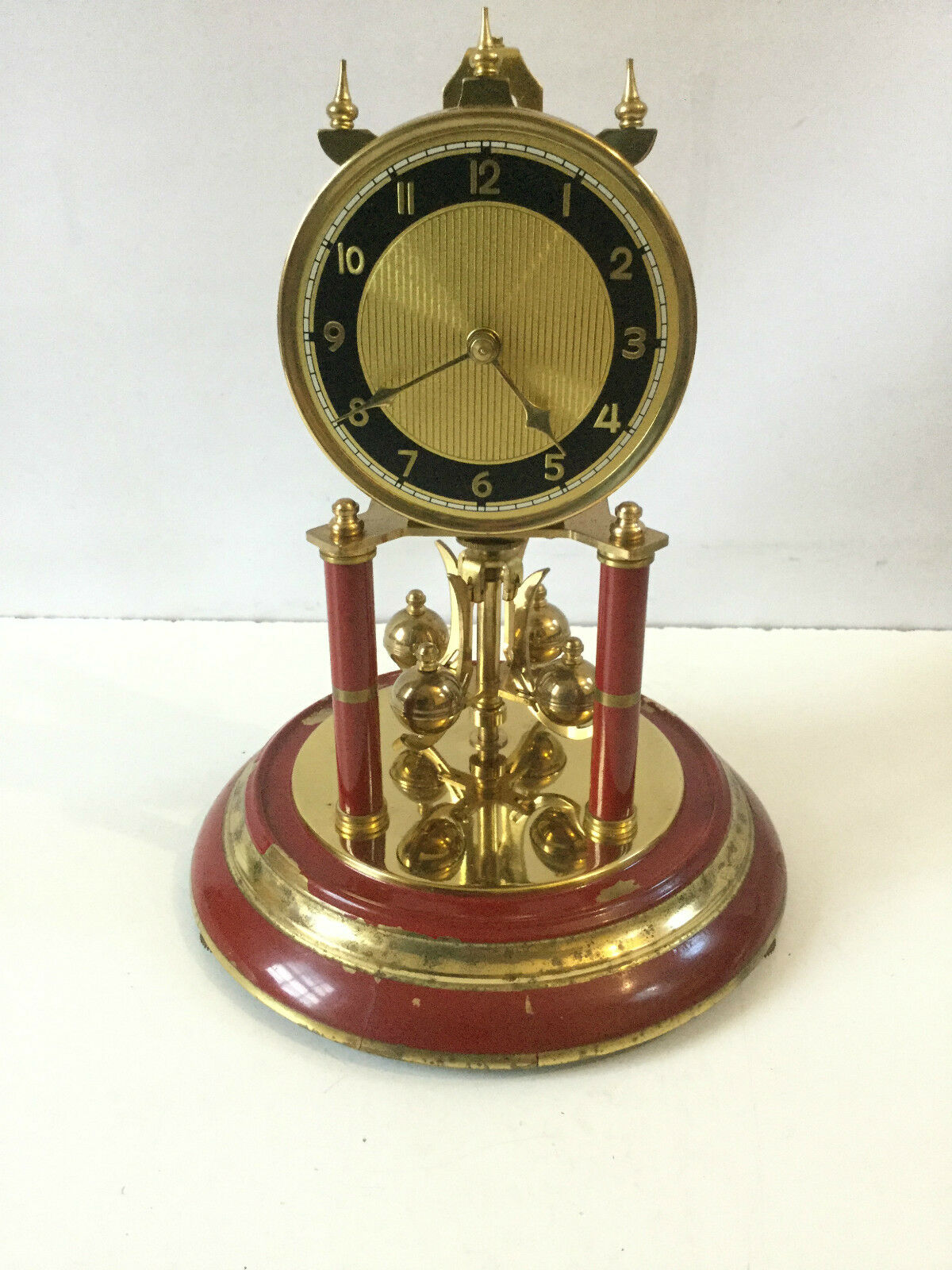 ANTIQUE GERMAN 400 DAY ANNIVERSARY TORSION CLOCK (Spares and Repairs)
