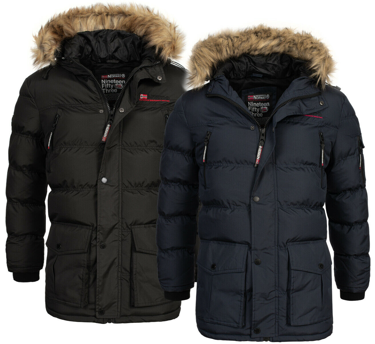 geographical norway sehr warme herren winter jacke outdoor parka anorak mantel eur 99 90. Black Bedroom Furniture Sets. Home Design Ideas
