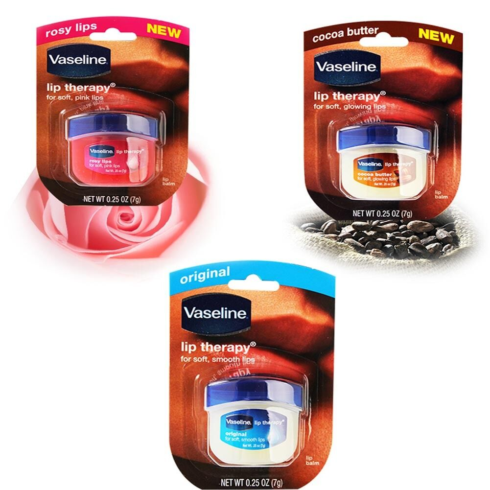 Vaseline Lip Therapy 100 Pure Petroleum Jelly Balm 025oz Rosy Lips 1 Of 2free Shipping
