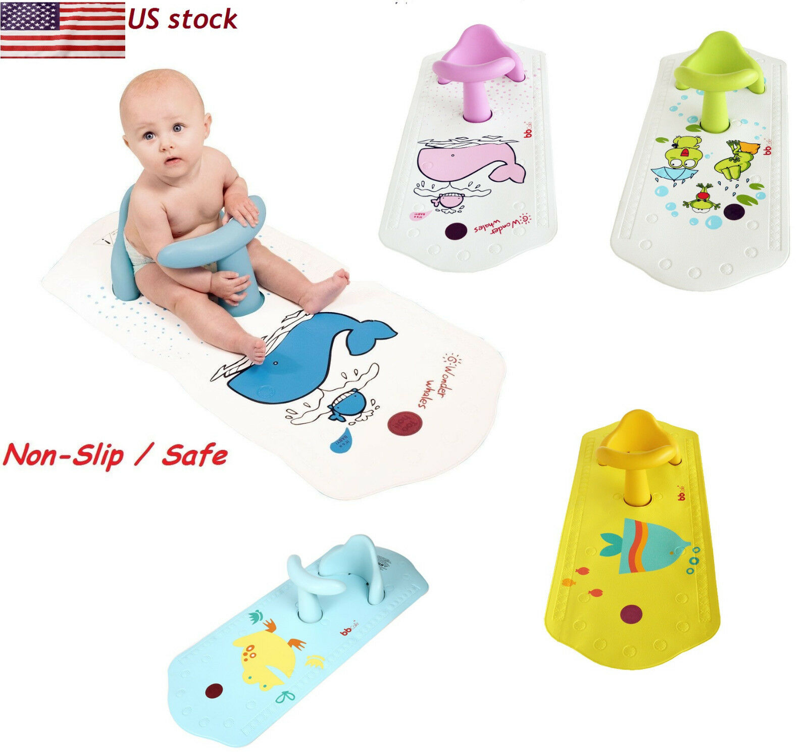 BABY BATH TUB Ring Seat FUN Keter Infant Anti Slip Chair Safety Heat ...