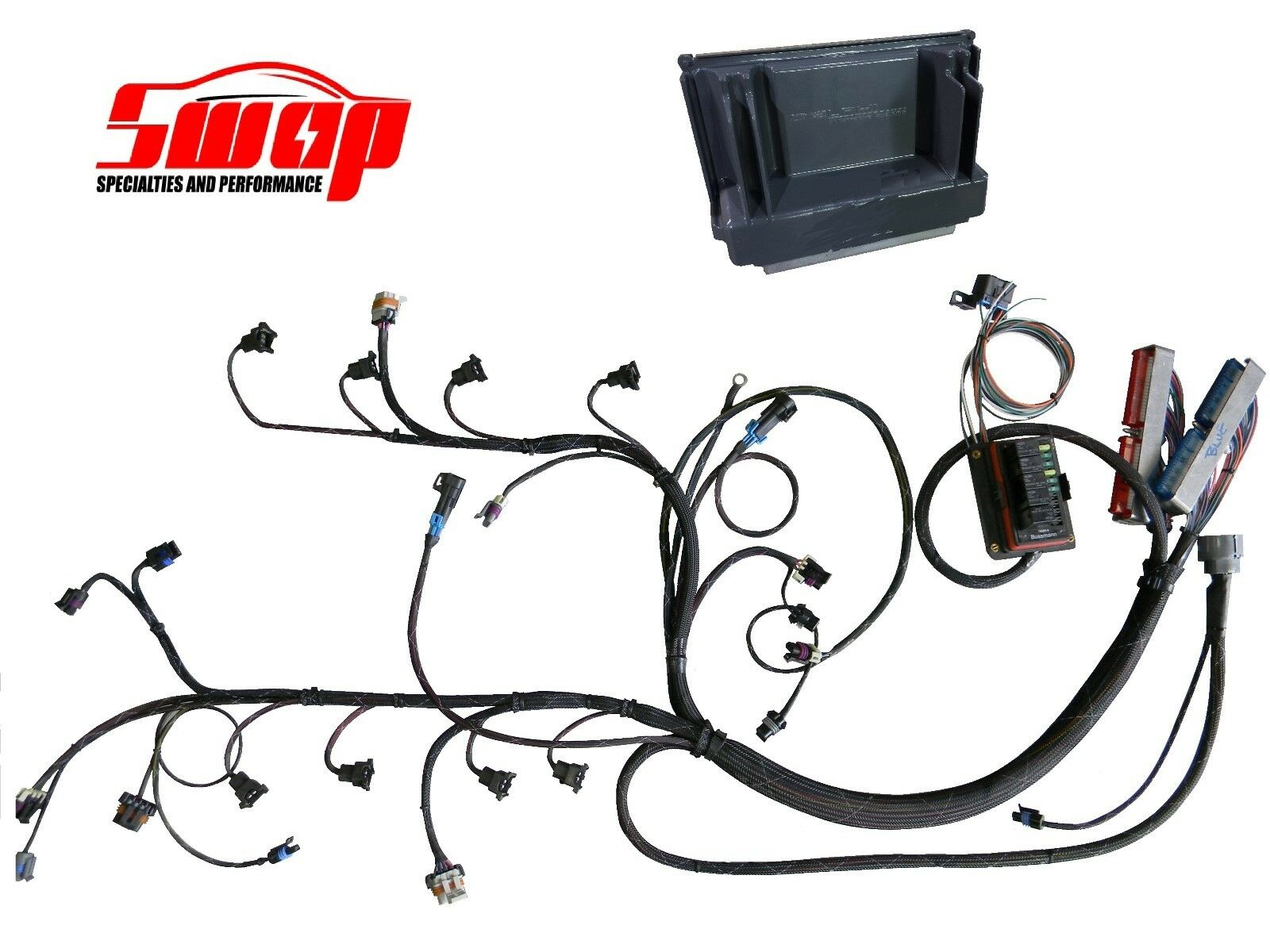 LS1 / LS6 5.7L Standalone Premium Wiring Harness DBW with PCM 1 of 3FREE  Shipping ...