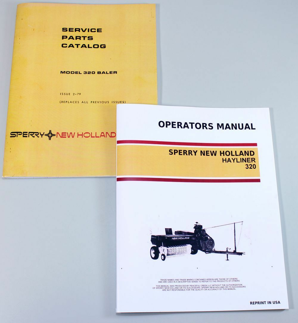 1 of 7FREE Shipping New Holland 320 Square Baler Hayliner Owner Operator  Parts Manual Catalog