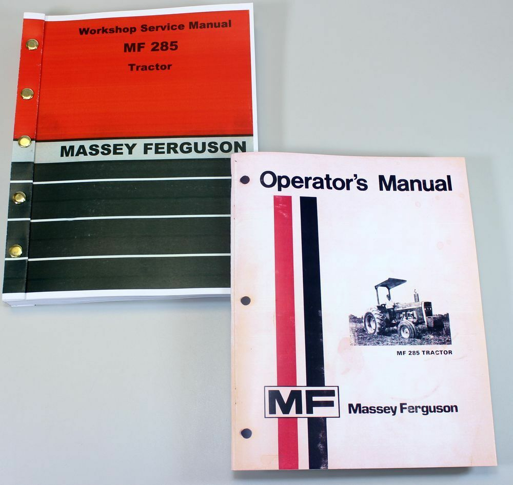 Set Massey Ferguson 285 Tractor Service Repair Owners Operators Manuals 1  of 11FREE Shipping ...