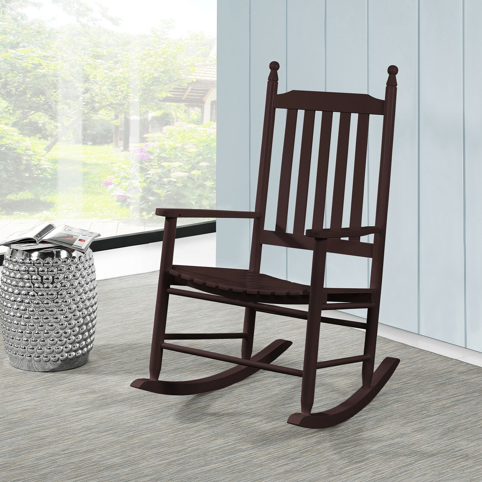 rocking chair texas marron si ge chaise. Black Bedroom Furniture Sets. Home Design Ideas