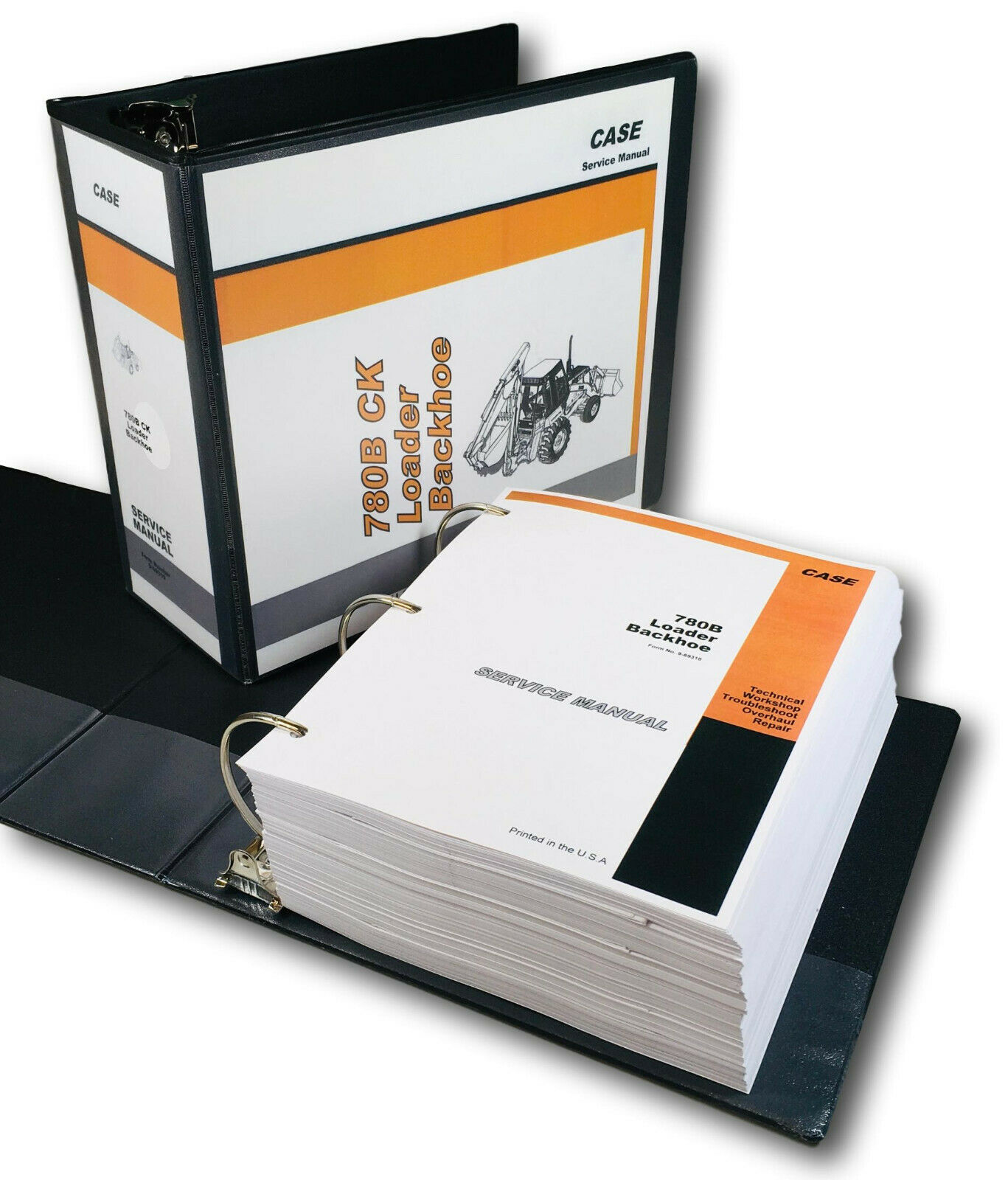 Case 780B Ck Tractor Loader Backhoe Service Technical Manual Repair Shop  Binder 1 of 12FREE Shipping ...