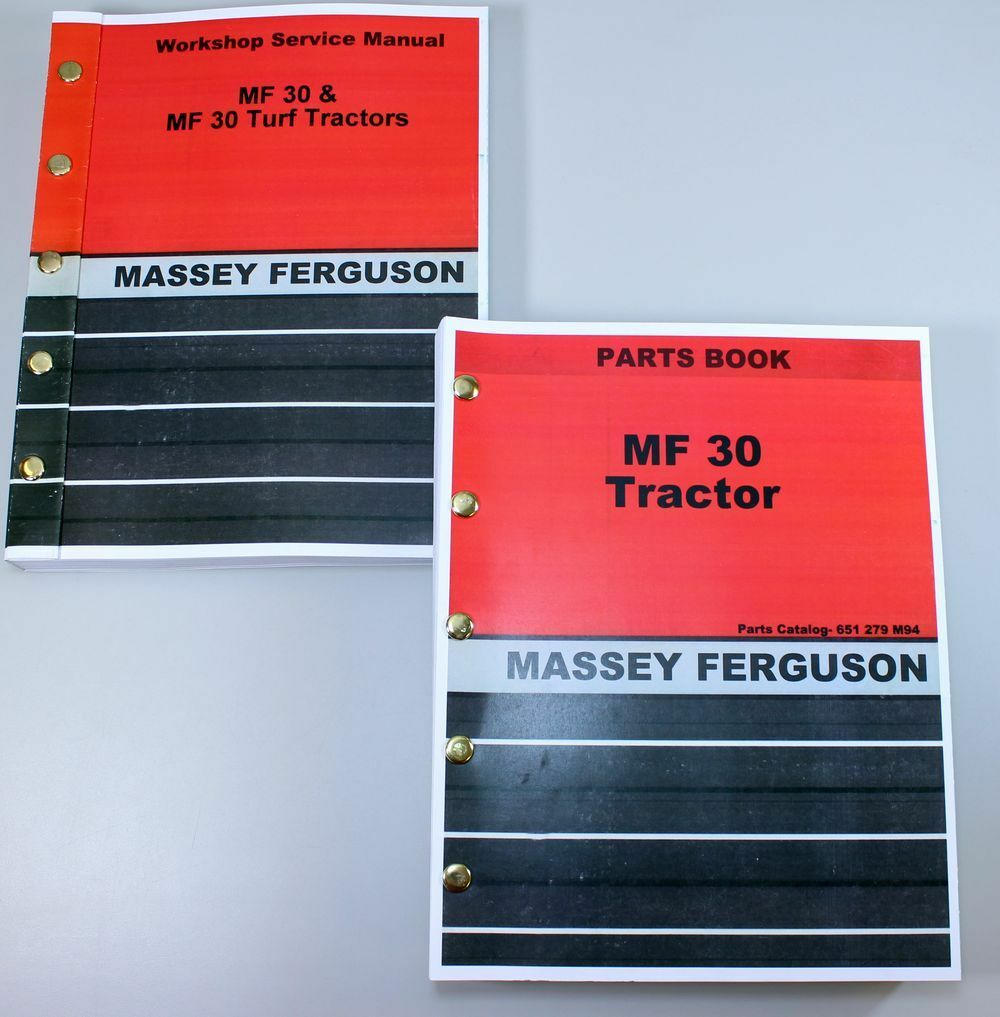 Massey Ferguson Mf 30 Industrial Tractor Service Parts Manuals Repair  Catalog 1 of 8FREE Shipping ...