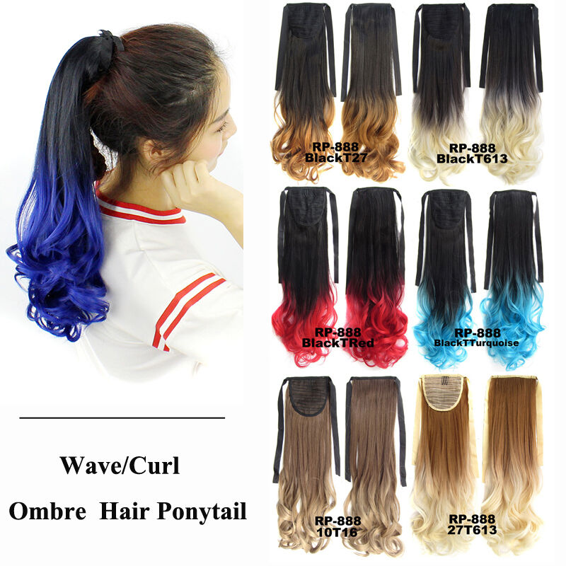 Bado Wave Ombre Synthetic Hair Ponytail Extension Drawstring Clip In
