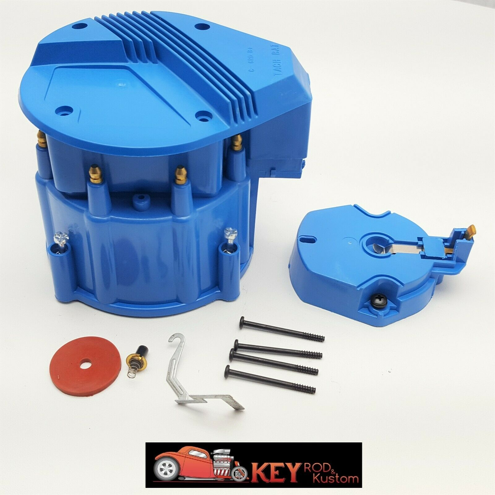 Gm Hei Blue Distributor Cap Rotor Set V8 Sbc Bbc Replacement Chevy Mopar Wiring In Ford 1 Of 2only Available
