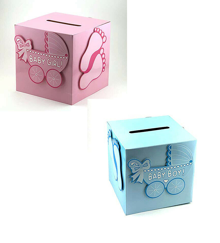 Baby Shower Girl Boy Wishing Well Card Box Decoration Keepsake
