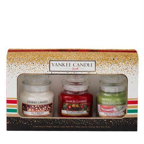 YANKEE CANDLE Gift Set Holiday Party 3 Small Jar - U00a312.49 | PicClick UK