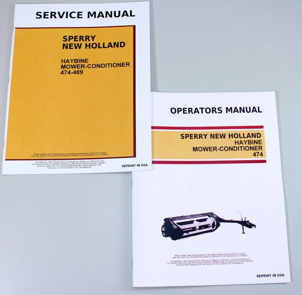 New Holland 474 Haybine Mower Conditioner Service Operators Owners Manual 1  of 11FREE Shipping New Holland 474 Haybine ...