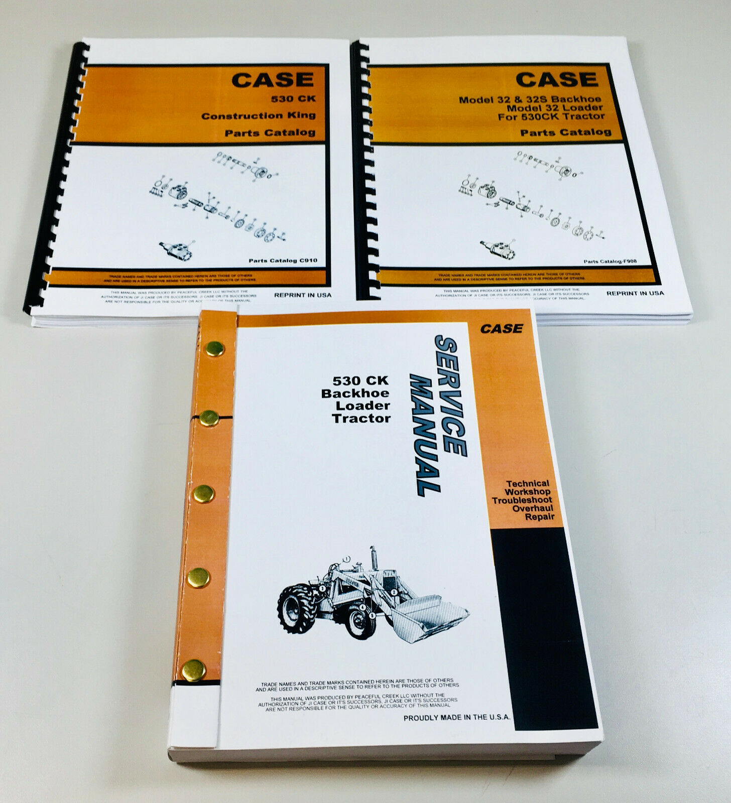 Case 530Ck Tractor Loader Backhoe Service Manual Parts Catalog Construction  King 1 of 11FREE Shipping ...