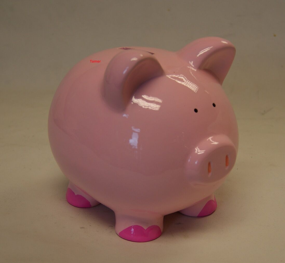 PINK PIG Ceramic Money Box - Pink Pig Piggy Bank - £7.75 ...
