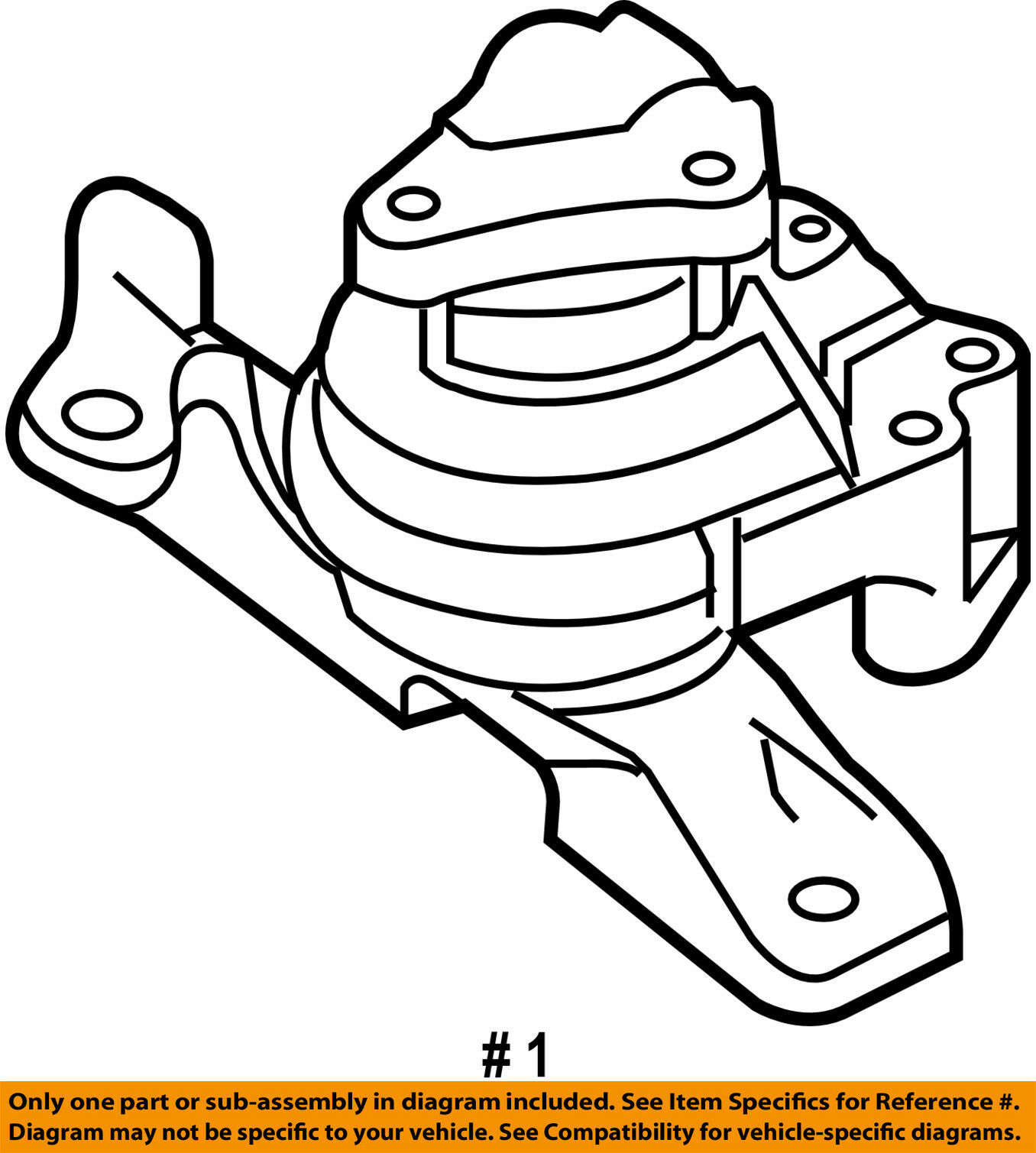 FORD OEM-Engine Motor Mount/Torque Strut 8G1Z6038A 1 of 2Only 2 available  ...