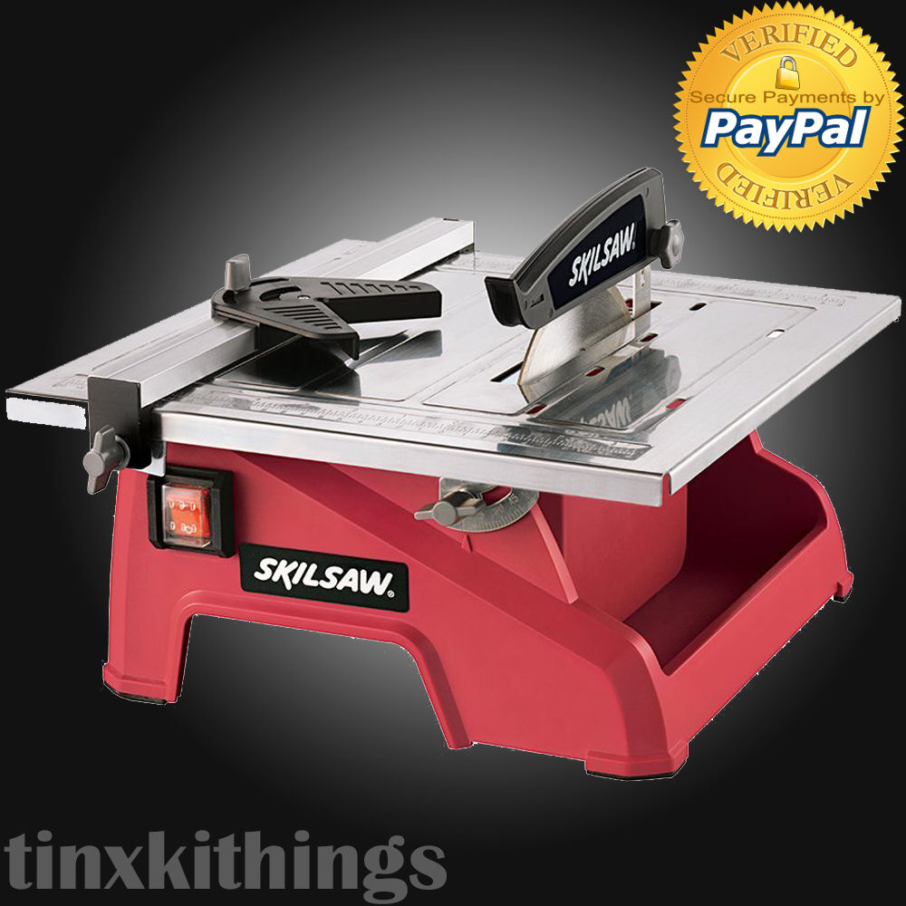 Electric Wet Tile Saw Compact Cutting Machine Masonry Tool Marble